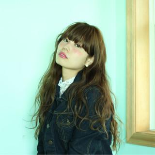 ガーリー 大人かわいい ゆるふわ ロング ヘアスタイルや髪型の写真・画像