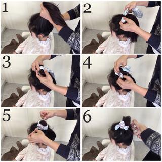 ヘアアクセ 簡単ヘアアレンジ ロング ガーリー ヘアスタイルや髪型の写真・画像