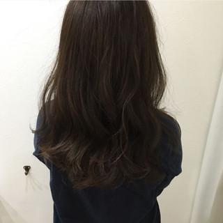 アッシュ 暗髪 大人かわいい ハイライト ヘアスタイルや髪型の写真・画像