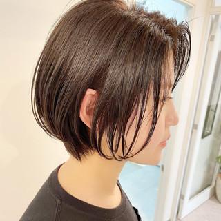 デート オフィス ナチュラル ショートヘア ヘアスタイルや髪型の写真・画像