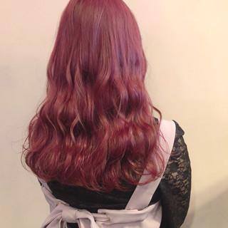 ロング 女子力 ピンク ガーリー ヘアスタイルや髪型の写真・画像