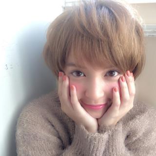 ショート 外国人風 小顔 こなれ感 ヘアスタイルや髪型の写真・画像