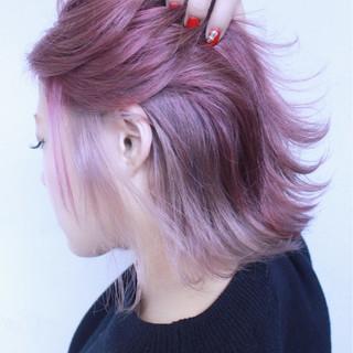 ゆるふわ ハイトーン ボブ 色気 ヘアスタイルや髪型の写真・画像