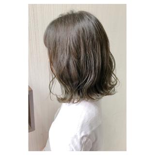 デート 大人かわいい ボブ アッシュ ヘアスタイルや髪型の写真・画像