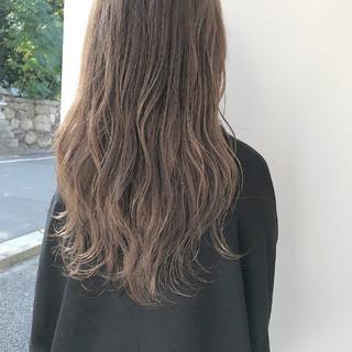 秋 透明感 ロング ハイライト ヘアスタイルや髪型の写真・画像