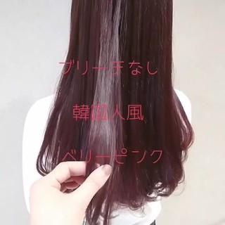 レッド オルチャン ガーリー ロング ヘアスタイルや髪型の写真・画像