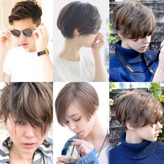 外国人風 ナチュラル 大人かわいい ショート ヘアスタイルや髪型の写真・画像