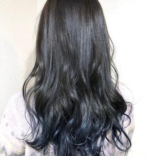 ストリート ネイビーカラー グラデーションカラー グラデーション ヘアスタイルや髪型の写真・画像