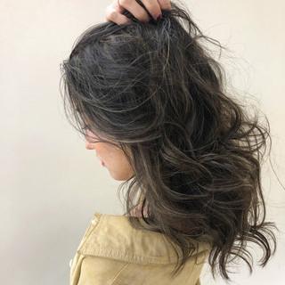 3Dハイライト コントラストハイライト エレガント ヘアアレンジ ヘアスタイルや髪型の写真・画像