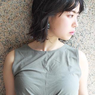 パーマ 簡単ヘアアレンジ 黒髪 ヘアアレンジ ヘアスタイルや髪型の写真・画像