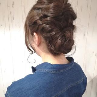 成人式 ヘアアレンジ ナチュラル ショート ヘアスタイルや髪型の写真・画像