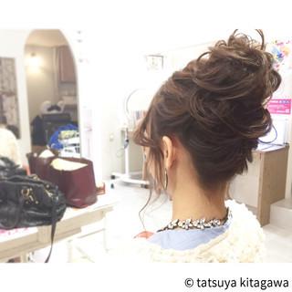 セミロング 結婚式 二次会 ガーリー ヘアスタイルや髪型の写真・画像