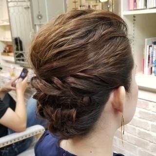 エレガント 上品 セミロング パーティ ヘアスタイルや髪型の写真・画像