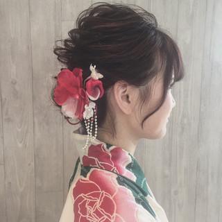 ガーリー 夏 お祭り 色気 ヘアスタイルや髪型の写真・画像