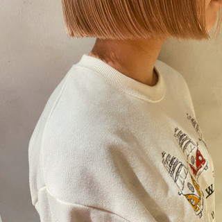 切りっぱなしボブ ボブ 外ハネボブ モテボブ ヘアスタイルや髪型の写真・画像