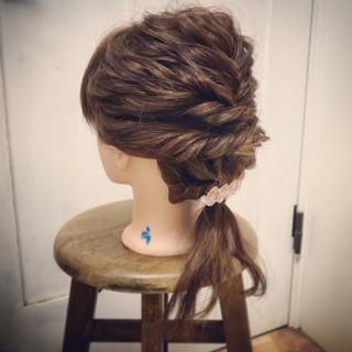 成人式 謝恩会 ヘアアレンジ セミロング ヘアスタイルや髪型の写真・画像