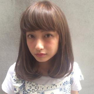 大人かわいい 外国人風 ミディアム ナチュラル ヘアスタイルや髪型の写真・画像