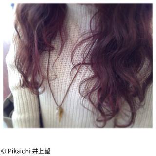 ガーリー パーマ グラデーションカラー ゆるふわ ヘアスタイルや髪型の写真・画像