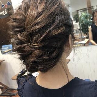 デート 編み込み フェミニン ヘアアレンジ ヘアスタイルや髪型の写真・画像