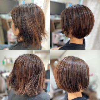 ベリーショート ミニボブ ショートボブ ボブ ヘアスタイルや髪型の写真・画像