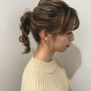 簡単ヘアアレンジ デート ヘアアレンジ アンニュイほつれヘア ヘアスタイルや髪型の写真・画像