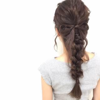 ロング ガーリー ヘアアレンジ ゆるふわ ヘアスタイルや髪型の写真・画像