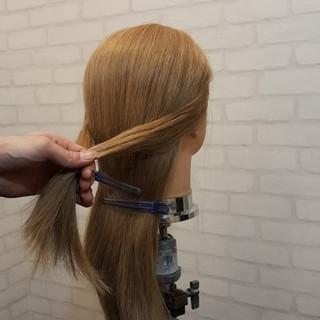 ヘアアレンジ 簡単ヘアアレンジ 外国人風 ロング ヘアスタイルや髪型の写真・画像