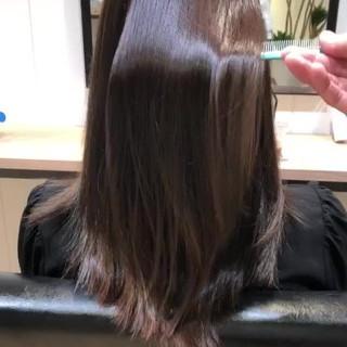 髪質改善 髪質改善トリートメント ロング 小顔 ヘアスタイルや髪型の写真・画像