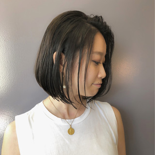 ナチュラル ショートボブ デート オフィス ヘアスタイルや髪型の写真・画像