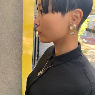 ショートヘア ショート ベリーショート 切りっぱなしボブ ヘアスタイルや髪型の写真・画像