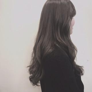 グレージュ 外国人風カラー オルチャン アッシュ ヘアスタイルや髪型の写真・画像