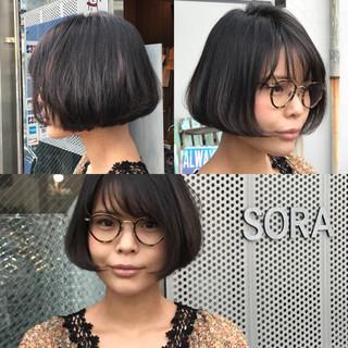 リップライン ボブ 透明感 大人女子 ヘアスタイルや髪型の写真・画像