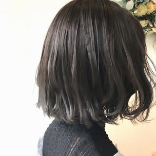ハイライト ボブ 外国人風 ナチュラル ヘアスタイルや髪型の写真・画像