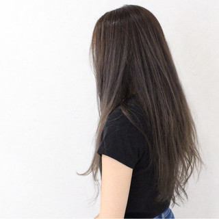 ハイライト ロング グラデーションカラー 外国人風 ヘアスタイルや髪型の写真・画像