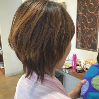 マッシュ ボブ マッシュヘア マッシュウルフ ヘアスタイルや髪型の写真・画像