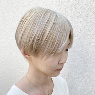 ショート 透明感 ナチュラル ショートヘア ヘアスタイルや髪型の写真・画像