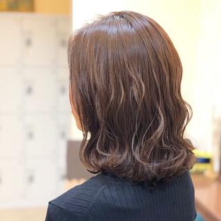 透明感 女子力 フェミニン ミディアム ヘアスタイルや髪型の写真・画像