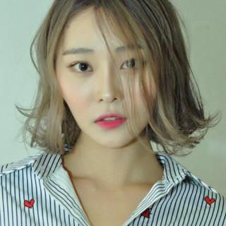 ミディアム アッシュ 外国人風カラー 外国人風 ヘアスタイルや髪型の写真・画像