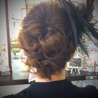 コンサバ ヘアアレンジ 結婚式 アップスタイル ヘアスタイルや髪型の写真・画像