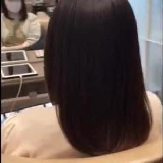 ミディアム ブラウン 可愛い N.オイル ヘアスタイルや髪型の写真・画像