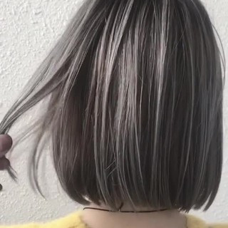ブリーチ グラデーションカラー ホワイト ガーリー ヘアスタイルや髪型の写真・画像