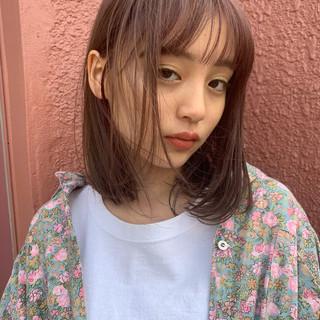 ヘアアレンジ ミディアム デート フェミニン ヘアスタイルや髪型の写真・画像