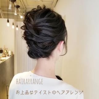 簡単ヘアアレンジ 結婚式ヘアアレンジ エレガント 結婚式 ヘアスタイルや髪型の写真・画像
