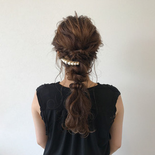 ヘアアレンジ 上品 ロング 夏 ヘアスタイルや髪型の写真・画像