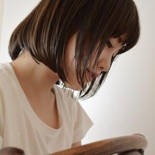 大人女子 暗髪 アッシュ ボブ ヘアスタイルや髪型の写真・画像