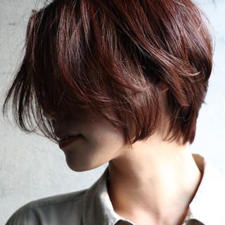 ナチュラル ショートヘア アンニュイほつれヘア ショート ヘアスタイルや髪型の写真・画像