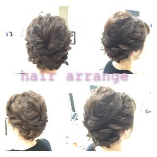モテ髪 ヘアアレンジ 波ウェーブ コンサバ ヘアスタイルや髪型の写真・画像