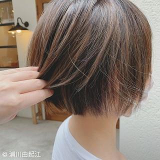 ナチュラル ショートボブ モテ髪 デート ヘアスタイルや髪型の写真・画像