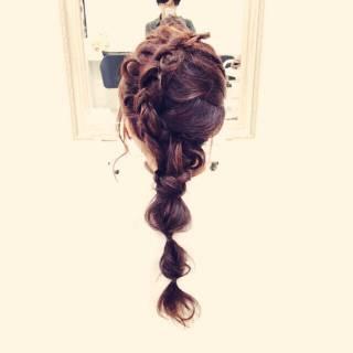 愛され 編み込み 結婚式 モテ髪 ヘアスタイルや髪型の写真・画像