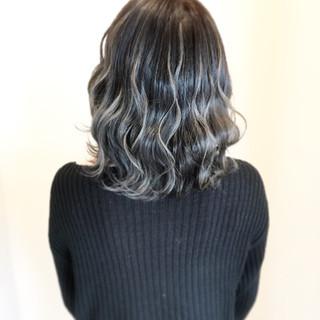 透明感 外国人風カラー ミディアム 秋 ヘアスタイルや髪型の写真・画像